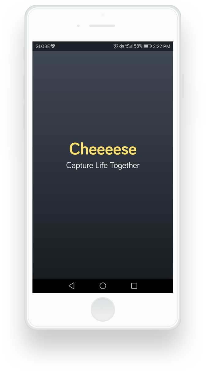 cheeeese mobile application loading screen