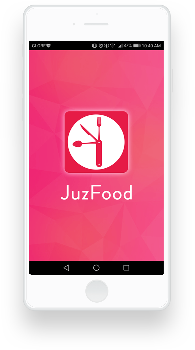 juzfood mobile application loading screen
