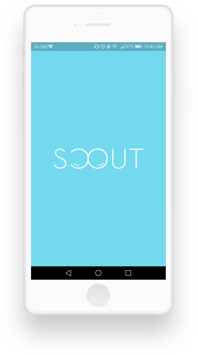Scout mobile application loading screen